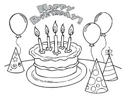 Free Coloring Pages Birthday The Pooh Printable Page Cards Cake
