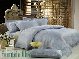 fountain blue queen duvet cover luxury cotton bedding dolce mela dm448q
