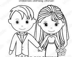 Printable Personalized Wedding Coloring Activity Book Favor Etsy