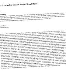 Essay Writing - Graduation Farewell Speech Sample