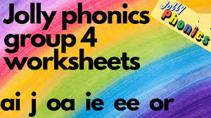 Phonics worksheets and online activities. Jolly Phonics Phase 1 Group 4 Digital Worksheet Lkg Ukg Toddlers Ai Oa J Or Ie Ee Words Youtube