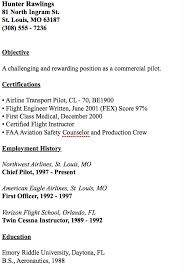 Gallery Of Pilot Resume Objective Examples Pilot Resume Template