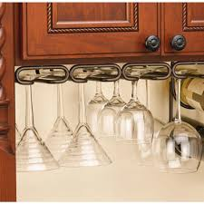 D Satin Nickel Under Cabinet Quad Wine Glass Holder-3450-11SN - The Home  Depot