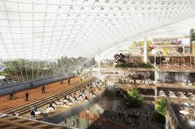 google hq office mountain view california. A Rendering Of The North Bayshore Campus In Mountain View, California. Image Via Google Hq Office View California