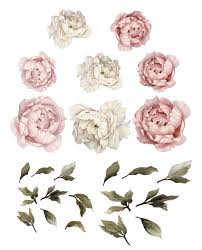 peony flower wall stickers on flower wall art for nursery with peony flower wall stickers flower wall stickers flower wall decor