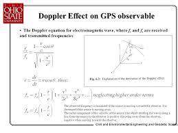moving towards the observer doppler effect on gps observable