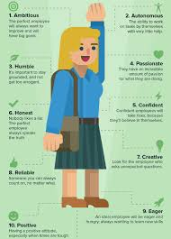 Good Work Traits The Ideal Employee Character Traits Job Career Job Info