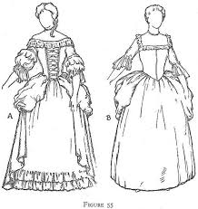 pioneer woman clothing drawing. costume of the quakers: women pioneer woman clothing drawing
