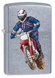 <b>Зажигалка Zippo</b> Байкер, Street Chrome™, <b>207 DIRT BIKE 2</b> ...