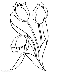 Flower Page Printable Coloring Sheets Free Printable Flowers