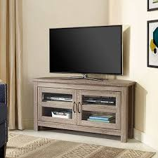 walker edison furniture. Walker Edison Furniture Co Corner Wood TV Stand Driftwood Throughout