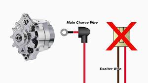 wire ford alternator exciter diagram just another wiring diagram one wire alternator warning light rh com f350 alternator wiring diagram 10si alternator wiring diagram