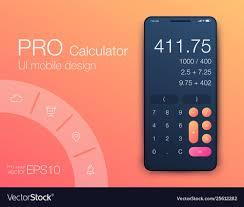 Ui Design Image Smartphone With Calculator Ui Design With