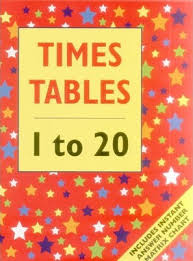 1 To 20 Tables Chart Times Tables 1 To 20 Giant Size Armadillo Press