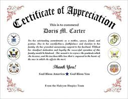 free recognition certificates samples certificates of appreciation plaque examples free