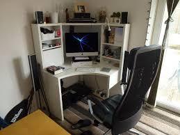 ikea micke corner workstation white