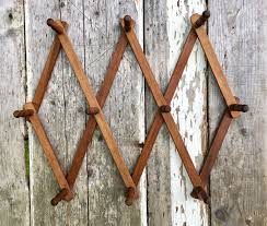 Expandable Wooden Coat Rack Large Vintage Wooden Accordion Wall Peg Rack Expandable Wooden Coat 30