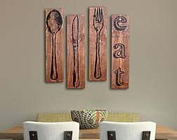 large knife fork and spoon wall art