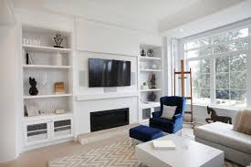 In a living room that uses a lot of white space, using a few splashes