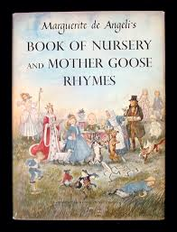 book of nursery and mother goose rhymes by de angeli 1954 later
