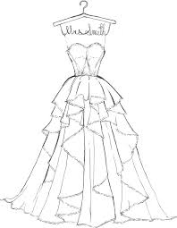 Wedding Dress Coloring Pages Printable Dpalaw