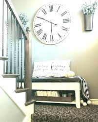 oversized white wall clock decorative clocks modern lovely d