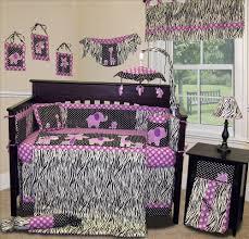 image of gray and purple crib bedding