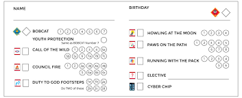 New Cub Scout Tracking Sheets Especially For Lds Dens The