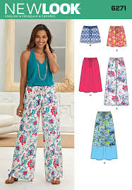 New Look Patterns Inspiration New Look 48 Women's Skirt In Three Lengths And Trousers Or Shorts