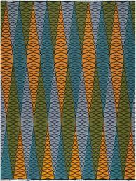 Vlisco Print Color Combos Orange Gold Peacock Blue Olive Green