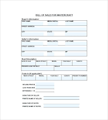 watercraft bill of sale bill of sale template wa