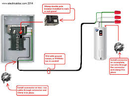 wiring diagrams hot water heater installation