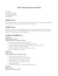 Office Manager Sample Resume Custom Sample Resume For Office Assistant Position Orlandomovingco