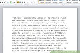 descriptive essay example related post of example of a write a descriptive essay