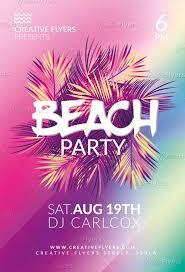 Beach Flyer Download Summer Beach Party Flyer Creativeflyers