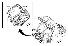gm acadia 07 acadia radio sound only out of front post speakers amp would be located under dash left side see diagram