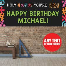 happy birthday banners personalized 40th birthday banners personalized ieusof banners
