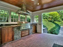 Brick Kitchen Floors Contemporary Porch With Outdoor Kitchen Exterior Brick Floors In