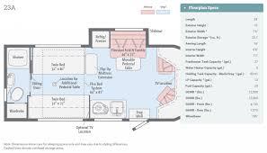 2016 winnebago fuse 23a floor plan