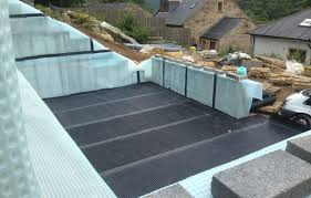 basement waterproofing system at a new build property in halifax