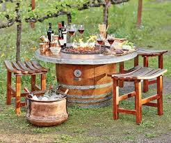 reversible reclaimed wine barrel. Reclaimed Wine Barrel Fire Pit - And Repurposed Furniture Reversible D