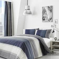 betley stripe duvet cover set blue multi hover to zoom