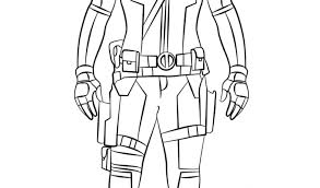 Deadpool Coloring Pages For Kids With Deadpool Coloring Page Free