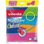 Купить <b>Салфетка VILEDA Colors</b> (<b>Колорс</b>) из микрофибры 4 шт ...