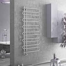 heated towel bar. ESSES Snake Round Bar Modern Heated Towel Rail / Warmer Radiator, Chrome X