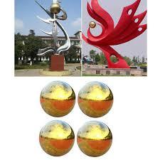4pc <b>High Gloss Glitter</b> Stainless Ball Sphere Mirror Hollow Ball ...