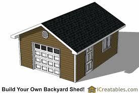 16x20 garage door shed plans
