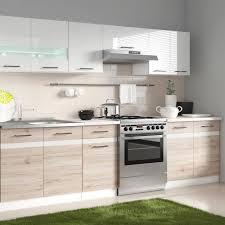 Junona Cuisine Complète Avec éclairage Led Et Plan De Travail L 2m40
