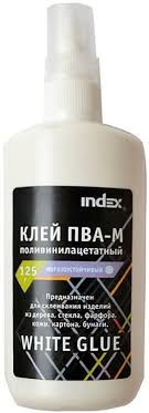 """<b>Index Клей ПВА</b>-М """"<b>Index</b>"""", 125 гр, с дозатором"""
