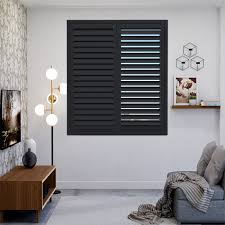 black plantation shutters.  Shutters Plantation Shutters  To Black A
